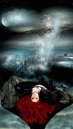 All types of art ❤ Gothic Pictures, Angel Pictures, Gif Pictures, Cool Pictures, Beautiful Gif, Beautiful Paintings, Gif Photo, Photo Art, Dark Fantasy