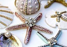rhinestones on seashells = really, really lovely