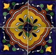 Kaleidoscope 4''X4'' Ceramic Tile
