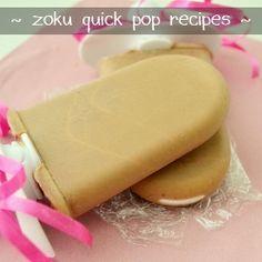 Zoku Quick Pop Recipes mocha and coconut pineapple