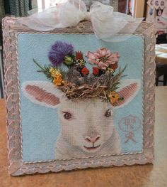 Spectacular Lambie Pie, a Vicky Sawyer design from Melissa Shirley Designs stitched by Toni K.