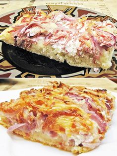 Taco Pizza, Hawaiian Pizza, Tacos, Pork, Food And Drink, Yummy Food, Beef, Baking, Africa