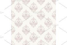 Damask Patterns, Arabesque, Vector Pattern, Abstract Backgrounds, Oriental, Floral, Pink, Flowers, Pink Hair