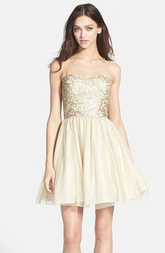 Aidan Mattox Embellished Tulle Fit & Flare Dress available at #Nordstrom