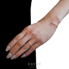 GINETTE NY Single Diamond Choker Bangle & Single Diamond Choker Ring
