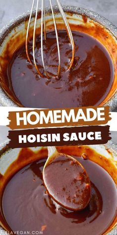 Homemade Hoisin Sauce Recipe, Sauce Recipes, Whole Food Recipes, Cooking Recipes, Easy Chinese Recipes, Asian Recipes, Asian Cooking, Food To Make, Food And Drink