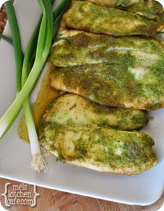 Baked Tilapia with Ginger and Cilantro - might feel a bit weird eating this one as I once had a pet Tilapia...