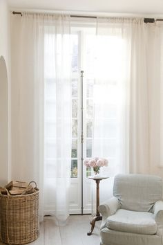 Sheer Casper Curtains by Libeco Linen