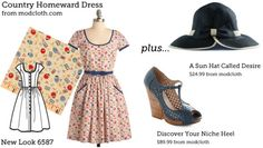 (via Make This Look: Country Homeward Dres | The Sew Weekly - Sewing  Vintage Lifestyle)