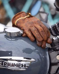 "Ever been told to ""man up""? Very few men ever ""man up"" and it's about time we do. I'm not talking about some testosterone-fueled call to a. Triumph Motorcycles, Triumph Motorbikes, Triumph Scrambler, British Motorcycles, Indian Motorcycles, Triumph Bonneville, Vintage Motorcycles, Scrambler Motorcycle, Motorcycle Gloves"