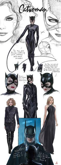 Batman Returns-Catwoman-concept art-FanArt by VladislavPANtic on DeviantArt Catwoman Cosplay, Catwoman Arkham City, Catwoman Makeup, Catwoman Comic, Batman And Catwoman, Batman Art, Batman Concept Art, Gotham Batman, Batman Robin