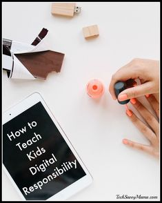Teaching Kids Digital Responsibility with Resources from AT&T - Tech Savvy Mama Parental Responsibility, Empowering Parents, Cyber Safety, Difficult Children, Health Words, Digital Footprint, How To Teach Kids, Internet Safety, Co Parenting