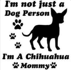 tekstbord voor chihuahua mama