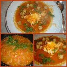 Receita Sopa de Tomate com Ovos Escalfados à Alentejana de Sótão da Verdinha