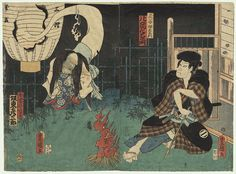 Utagawa Kunisada woodblock print with Oiwa