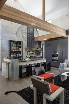 Modern Retreat Home-Fredman Design Group-07-1 Kindesign
