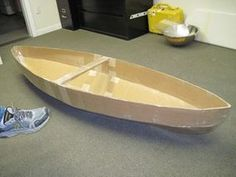 How to Make a Cardboard Canoe for Your Kids in the Pool: 5 Steps (with Pictures) THIS IS IT! Has template!