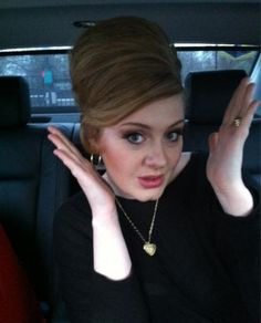 """Adele Hair #adele #celebrityhair - there are not words to describe how much I love this """"do""""!"""