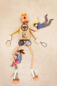 Un photographe met en scène les enfants dans d'immenses compositions imaginaires