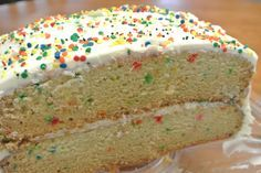 Dairy-free, egg-free, vegan confetti fun cake that nobody will know is allergy-friendly. Tastes like real cake and is a fun, easy recipe guests will love.