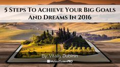 I know that this year 2016 will be a year of massive success, growth and breakthroughs for you and your business and you will hit your big goals and dreams
