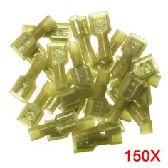 150PCS  Wire Cable Nylon Insulated Spade Crimp Terminals Car Motor Audio Power Terminal Connector 12-10AWG  ALI88 #Affiliate