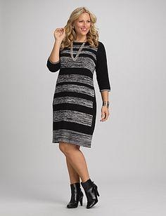 Plus Size Space Dye Sweater Dress Dressbarn Dress Barn