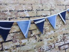 My handmade denim and lace bunting on Wow ThankYou