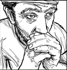 Abe Lincoln Illustration from Miserable Americans book 1