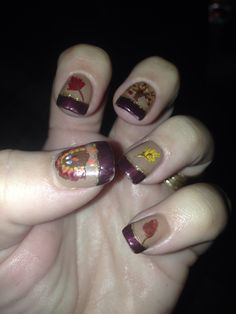 Fall Nails... but without the leaves maybe?
