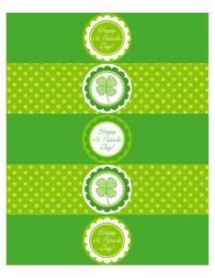 Free Printable – St. Patrick's Day Waterbottle Labels