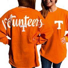 Tennessee Vols Volunteer Women's Logo Sweeper Long Sleeve Oversized To   SimplyCuteTees