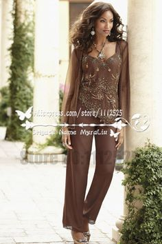 Find More Mother of the Bride Dresses Information about AMP1074 Chocolate chiffon with delicate beading mother of the bride pant suits Beautiful outfit for mother,High Quality suit 10,China suit charcoal Suppliers, Cheap suit decoration from Mother of the Bride Special Occasion Wear on Aliexpress.com