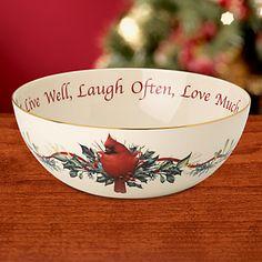 Winter Greetings Open Vegetable Bowl   Christmas Table   Pinterest ...