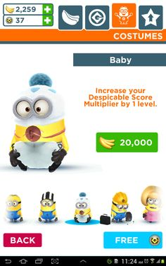 "Baby minion from ""Minion Rush"""