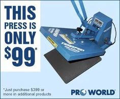 Thinking about getting a heat press? Pro World has a vinyl heat transfer vinyl deal that you need to check out!
