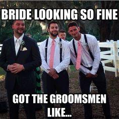 Down, boys! Wedding Meme, Bridal Gowns, Wedding Gowns, Budget Bride, Cleveland Wedding, Bride Look, Groomsmen, How To Plan, Memes