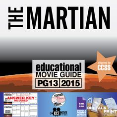 The #Martian Movie Guide | Questions | Worksheet (PG13 - 2015) is an ideal movie to teach your students about #perseverance. #TheMartian #MattDamon #Watney #NASA #Mars #GoogleClassroom #GoogleForms #Teachers #MovieGuides #LessonPlans #TPT #TeachersPayTeachers #CCSS #Homeschooling #RemoteLearning #DistanceLearning