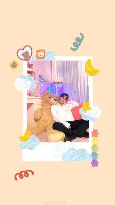 Sanrio Wallpaper, Laptop Wallpaper, Aesthetic Iphone Wallpaper, Lock Screen Wallpaper, Seventeen Album, Mingyu Seventeen, Cute Wallpapers, Wallpaper Backgrounds, Polaroid Decoration