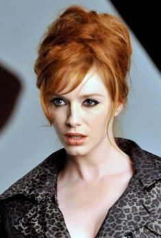 You will never understand my obsession with Christina Hendricks... and I absolutely am loving this hair for the wedding... real truth.