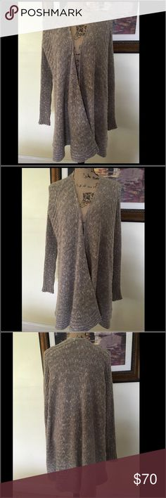 Free People Long Knit Sweater Free People Long Knit Sweater.  Fashionable for this season.  Neutral colors to match plenty of outfits. Free People Sweaters Cardigans