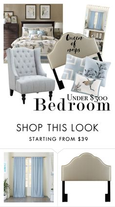 """2016 bedroom under $500"" by vaughnroyal on Polyvore featuring interior, interiors, interior design, home, home decor, interior decorating and bedroom"