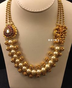 Latest Collection of best Indian Jewellery Designs. Gold Jewellery Design, Gold Jewelry, Beaded Jewelry, Gold Necklace, Jewelry Candles, Designer Jewellery, Handmade Jewellery, Pearl Jewelry, Indian Wedding Jewelry