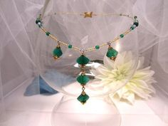 Beaded Necklace Green Onyx Pendants and Beads by SparklePlentyToo, $44.99