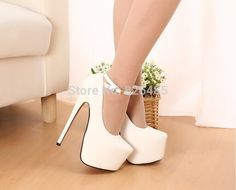 Me los pondría siempre son bellisimos White High Heels, Sexy High Heels, High Heels Stilettos, Shoes Heels, Kawaii Shoes, Beautiful Heels, Pretty Shoes, Hot Shoes, Girls Shoes