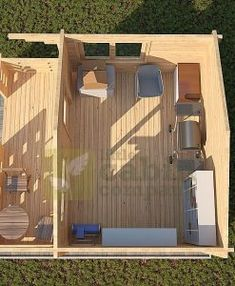 "Micro Log Cabin x ""Maidstone"" Large Open Plan Kitchens, Camping Pod, How To Build A Log Cabin, Window Sizes, Tiny House Cabin, Little Cabin, Vinyl Siding, Cabins In The Woods, Rustic Design"