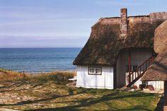 Altes Fischland-Haus mit Meeresblick