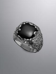 Waves Signet Ring, Black Onyx   Men Men's Collection Rings   David Yurman Official Store
