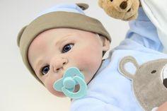 93.51$  Buy here - http://aligkw.worldwells.pw/go.php?t=32407303378 - New 58CM soft full Silicone Reborn Baby Dolls toys lifelike newborn babies brinquedos bonecas children gift