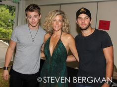 Chad Duell, Laura Wright and Bryan Craig